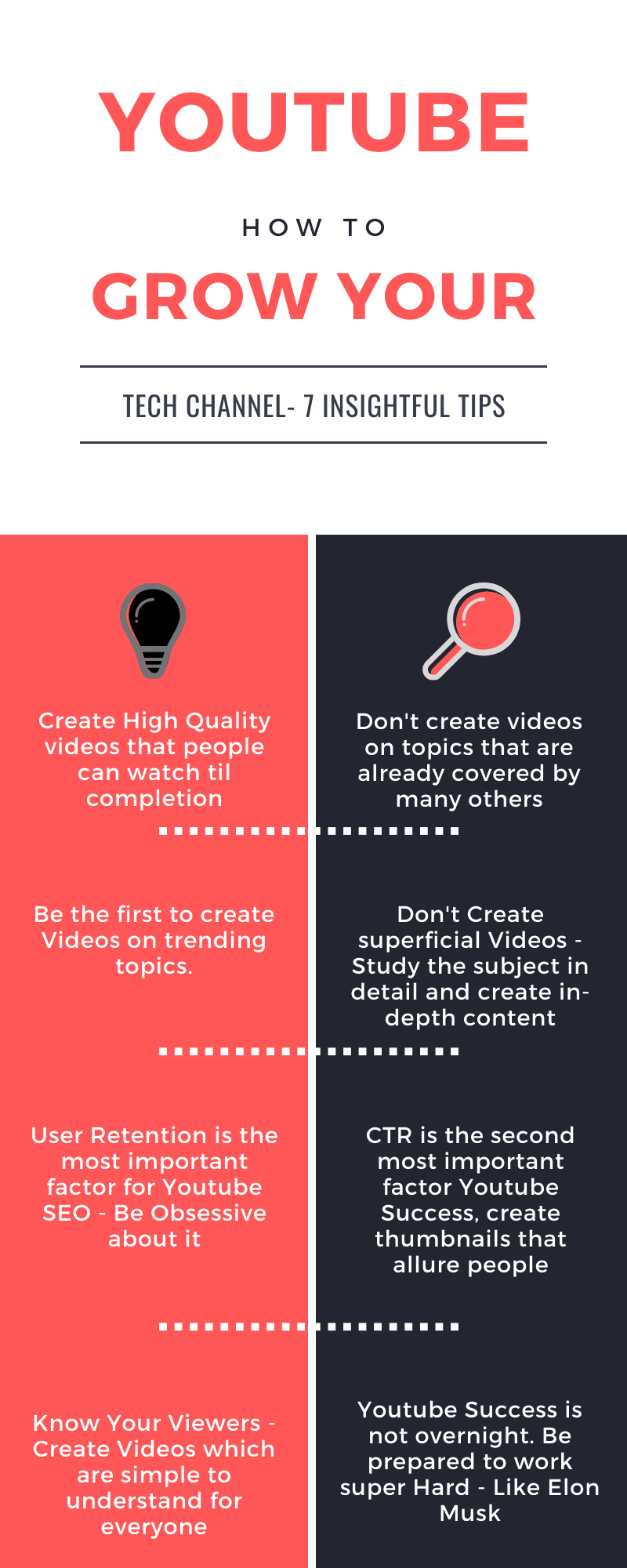 How to Grow Your Youtube Channel Infographics